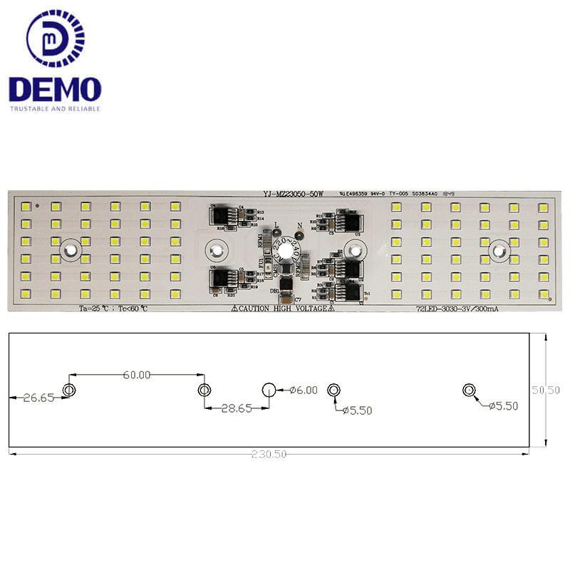 50W 220V DOB AC LED Module For Tunnel Lights